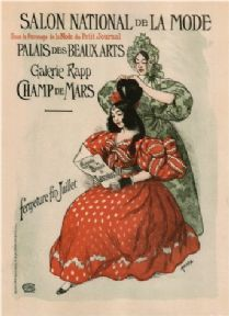 French advertising poster - Salon National de La Mode